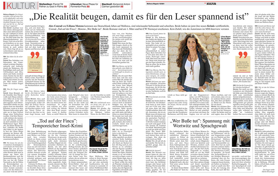 Interview Lilly Hess Antic mit Mallorca Magazin